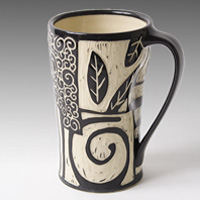 Wheel thrown mug by Jennifer Falter